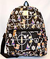 Рюкзак в кож. заме Gimmi bear 24*30 черный