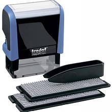 Штамп самонабірний TRODAT Printy 4912,  47*18 мм  4 рядки,  каси: 3 і 4 мм  укр+рос,  корпус: жовтий