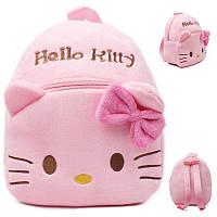 Детские мягкие рюкзаки для девочек Hello Kitty, Хеллоу Китти. Плюшевый рюкзак для детей