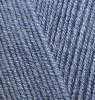 Пряжа для ручного вязания Alize LANAGOLD FINE (Ализе ланаголд файн)   203 джинс меланж