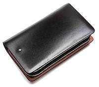 Кожаный кошелек Montblanc Wallet 11-7251A черный
