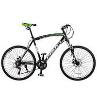 """Велосипед Profi Expert 26.6XL 26"""" Черно-салатовый, Shimano 21SP"""
