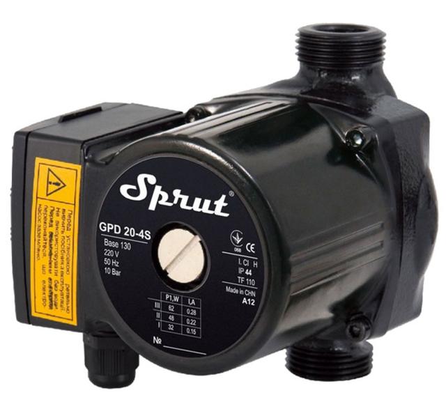 Циркуляционный насос для систем отопления Sprut GPD 20–4S–130