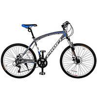 """Велосипед Profi Expert 26.5L 26"""" Черно-синий, Shimano 21SP"""