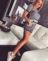 Летний, женский, вязаный костюм с шортами (пряжа CHANEL-меланж) РАЗНЫЕ ЦВЕТА