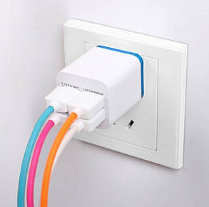 USB зарядное устройство на 4 порта 1A 2A, фото 2