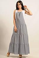 Джинсовое платье длинное стильное Liya 42–52р. в расцветках