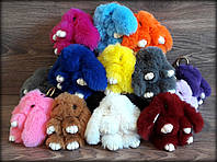 Меховой Брелок Кролик мех Rex Fendi Premium цвета!