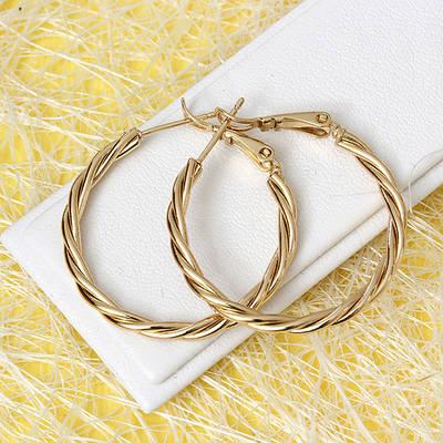 008-3815 - Позолоченные серьги-кольца