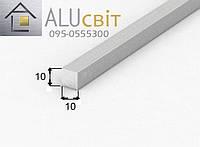 Пруток алюминиевый квадратный 10х10 анодированный