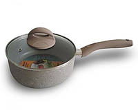 Сотейник с антипригарным покрытием 18 см. (Marble saucepan), фото 1