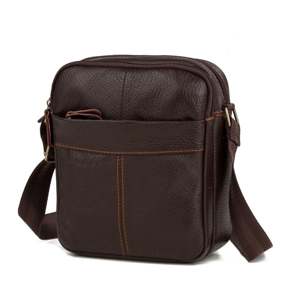 d9d1bf5180cd Мужская сумка через плечо TIDING BAG M38-1025C коричневая -  Интернет-магазин CLUTCH&CLUTCH в