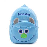 Мягкий плюшевый рюкзак для детей Монстрик. Детский рюкзачок для мальчика, девочки