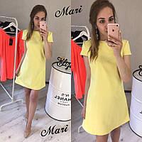 Модное платье из ткани барби костюмка  (цвет неон)