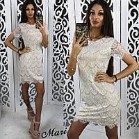 Белое платье из дорого гипюра