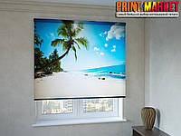 Рулонные шторы с фотопечатью пальмы