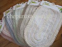 Набор хлопковых овальных ковриков в ванную и туалет 100*60 см и 50*60 см
