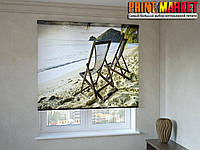 Рулонные шторы с фотопечатью берег