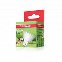 LED Лампа EUROLAMP ЕКО MR16 5W GU5.3 3000K