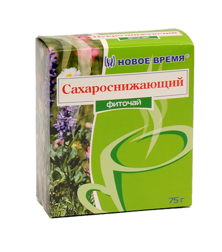 "Чай травяной сахароснижающий, от сахарного диабета ""Сахароснижающий"" Новое время, сбор 75 г"