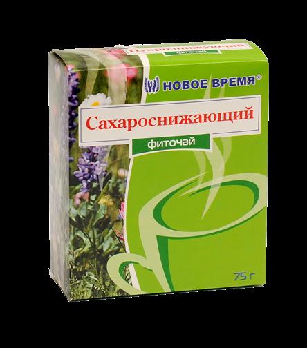 "Травяной чай сахароснижающий, от сахарного диабета ""Сахароснижающий"" Новое время, сбор 75 г"