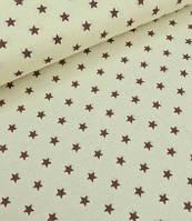 звезда коричневая на светло-бежевом