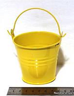 Ведерко декоративное 7,5 см. желтое
