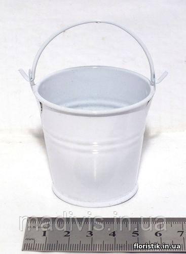 Ведерко декоративное 5,3 см., белое