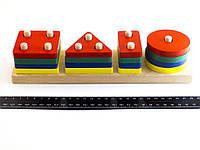 Деревянная игрушка Геометрик классический 4 фигуры, фото 1