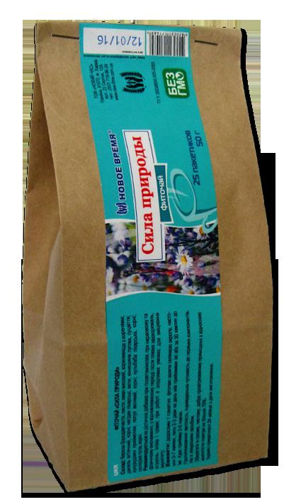 """Травяной чай для иммунитета, общеукрепляющее средство """"Сила природы"""" Новое время, 25 пак. (50 г)"""