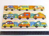 Деревянная игрушка Досточка вкладки Машинки Подбери Дверцу