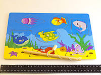 Деревянная игрушка Рыбалка Геометрические фигуры, фото 1