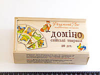 Деревянная игрушка Домино домашние животные, фото 1