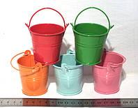 Ведерки декоративные 5,3 см., разноцветные