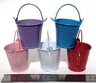 Ведерки декоративные 5,5 см., разноцветные