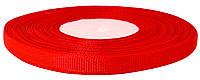 Репсовая лента красная 0,6 см х 25 ярдов
