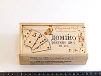 Деревянная игрушка Домино Числа и Цифры