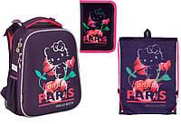 "Комплект школьный. Рюкзак ""Hello Kitty"" HK17-531M, Пенал и Сумка, ТМ  KITE"
