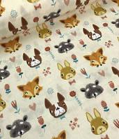 зайцы, лисички, собачки на молочном