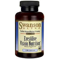 Swanson Ultra EyesAlive Vision Nutrition препарат для поддержки зрения из растительных компонентов 120 капс