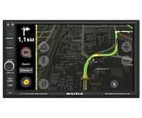 Автомагнитола с GPS навигатором Shuttle SDUA-7050 2 Din MP5 Black/Green мультимедийная станция
