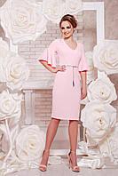 Женское коктейльное платье розовое, р.S,М