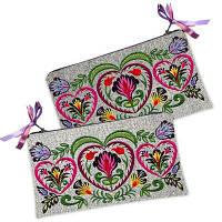 Женская косметичка-кошелек с орнаментом