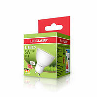 LED Лампа EUROLAMP ЕКО MR16 5W GU10 3000K