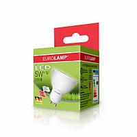 LED Лампа EUROLAMP ЕКО MR16 5W GU10 4000K