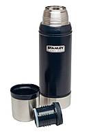Термос STANLEY Classic Vacuum Bottle 0.75 L темно-синій 10-01612-010, фото 1