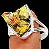 """Разноцветное колечко с золотисто-розовым висмутом """"Пирамиды"""",  размер 19.3   от студии LadyStyle.Biz"""