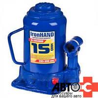Домкрат IronHand 15т 205-390мм
