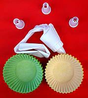Набор бумажные формочки (50 шт.) + кондитерский мешок с насадками (3 шт.)