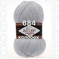 Пряжа для ручного вязания Alize LANAGOLD FINE (Ализе ланаголд файн)   684 пепельный меланж